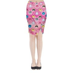 Alice In Wonderland Midi Wrap Pencil Skirt by reddyedesign