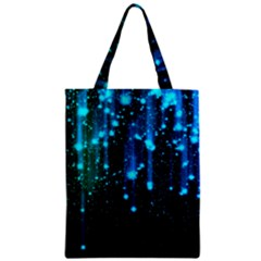 Abstract Stars Falling  Zipper Classic Tote Bag by Brittlevirginclothing