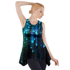Abstract Stars Falling Wallpapers Hd Side Drop Tank Tunic by Brittlevirginclothing