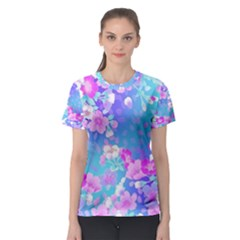 Colorful Pastel  Flowers Women s Sport Mesh Tee by Brittlevirginclothing
