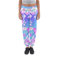 Colorful Pastel  Flowers Women s Jogger Sweatpants by Brittlevirginclothing