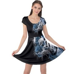 Ghost Tiger Cap Sleeve Dresses by Brittlevirginclothing