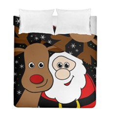 Xmas Selfie Duvet Cover Double Side (full/ Double Size) by Valentinaart