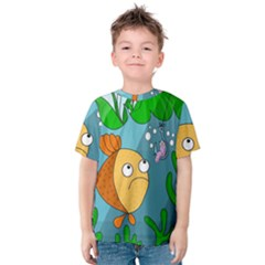 Fish And Worm Kids  Cotton Tee