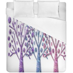 Magical Pastel Trees Duvet Cover (california King Size) by Valentinaart