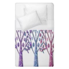 Magical Pastel Trees Duvet Cover (single Size) by Valentinaart