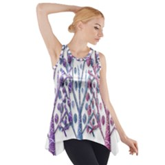 Magical Pastel Trees Side Drop Tank Tunic by Valentinaart