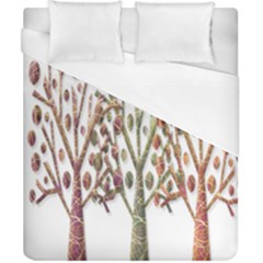 Magical Autumn Trees Duvet Cover (california King Size) by Valentinaart
