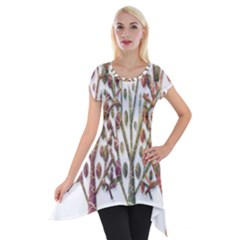 Magical Autumn Trees Short Sleeve Side Drop Tunic by Valentinaart