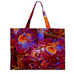 Floral Artstudio 1216 Plastic Flowers Medium Tote Bag