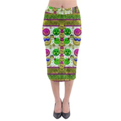 Smile And The Whole World Smiles With You Midi Pencil Skirt