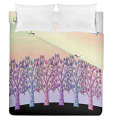 Magical Hill Duvet Cover Double Side (queen Size) by Valentinaart