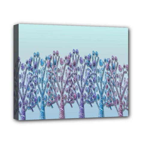 Blue Magical Hill Canvas 10  X 8  by Valentinaart