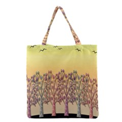 Magical Sunset Grocery Tote Bag by Valentinaart