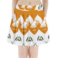 Coat Of Arms Of Cyprus Pleated Mini Skirt