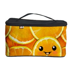 Cute Orange  Cosmetic Storage Case by Brittlevirginclothing