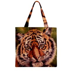 Tiger Cub Zipper Grocery Tote Bag