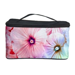 Rainbow Flower Cosmetic Storage Case by Brittlevirginclothing
