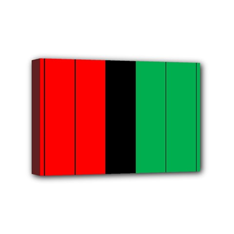 Kwanzaa Colors African American Red Black Green  Mini Canvas 6  X 4  by yoursparklingshop