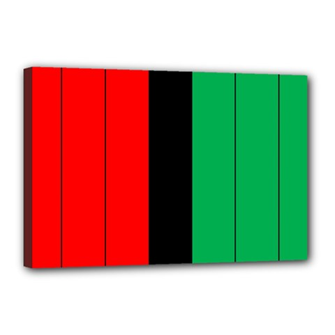 Kwanzaa Colors African American Red Black Green  Canvas 18  X 12  by yoursparklingshop