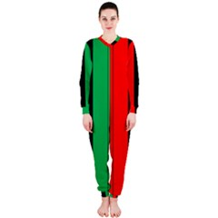 Kwanzaa Colors African American Red Black Green  Onepiece Jumpsuit (ladies)  by yoursparklingshop