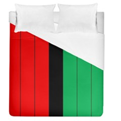 Kwanzaa Colors African American Red Black Green  Duvet Cover (queen Size) by yoursparklingshop