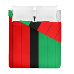 Kwanzaa Colors African American Red Black Green  Duvet Cover Double Side (full/ Double Size) by yoursparklingshop