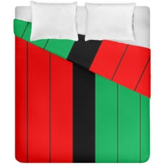 Kwanzaa Colors African American Red Black Green  Duvet Cover Double Side (california King Size) by yoursparklingshop
