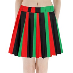 Kwanzaa Colors African American Red Black Green  Pleated Mini Skirt by yoursparklingshop