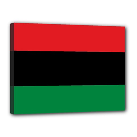 Pan African Unia Flag Colors Red Black Green Horizontal Stripes Canvas 16  X 12  by yoursparklingshop