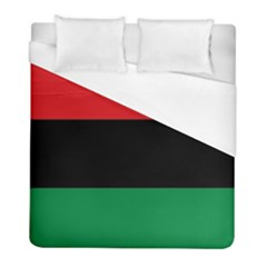 Pan African Unia Flag Colors Red Black Green Horizontal Stripes Duvet Cover (full/ Double Size) by yoursparklingshop