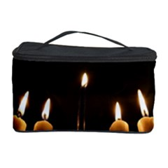 Hanukkah Chanukah Menorah Candles Candlelight Jewish Festival Of Lights Cosmetic Storage Case by yoursparklingshop