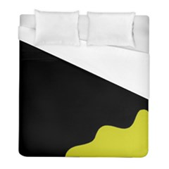 Black And Yellow Duvet Cover (full/ Double Size) by Valentinaart