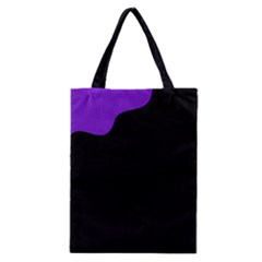 Purple And Black Classic Tote Bag by Valentinaart