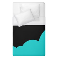 Black And Cyan Duvet Cover (single Size) by Valentinaart