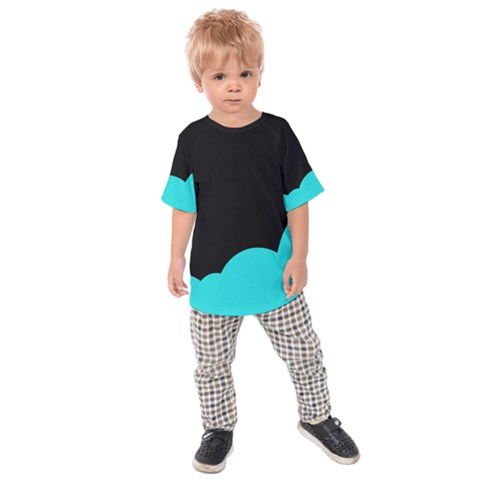 Black And Cyan Kids  Raglan Tee by Valentinaart