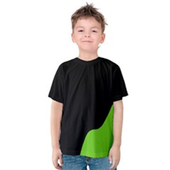 Black And Green Kids  Cotton Tee