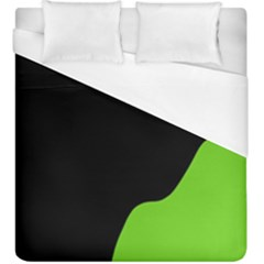 Black And Green Duvet Cover (king Size)