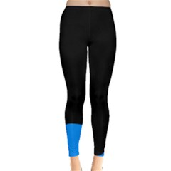 Blue And Black Leggings  by Valentinaart