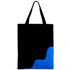 Blue And Black Zipper Classic Tote Bag by Valentinaart