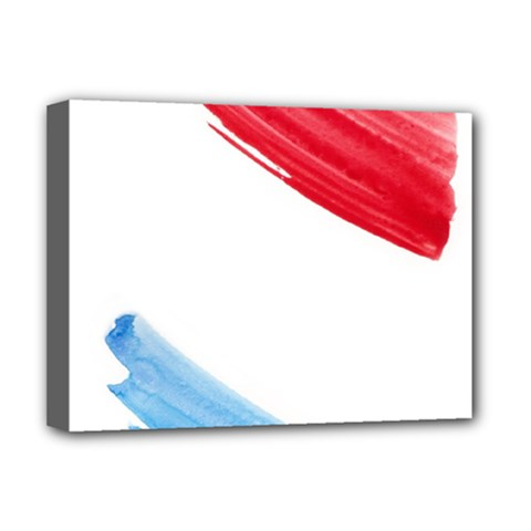 Tricolor Banner Flag, Red White Blue Deluxe Canvas 16  X 12
