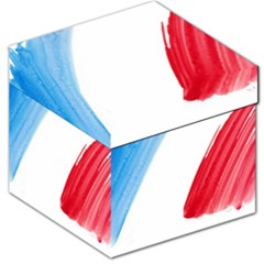 Tricolor Banner Flag France, Blue White Red Watercolor Storage Stool 12
