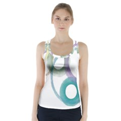 Rainbow Color Circles, Watercolor   Aquarel Painting Racer Back Sports Top by picsaspassion
