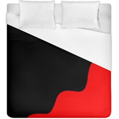 Black And Red Duvet Cover (king Size) by Valentinaart