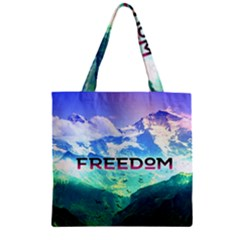 Freedom Zipper Grocery Tote Bag by Brittlevirginclothing