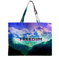 Freedom Medium Zipper Tote Bag by Brittlevirginclothing