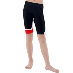 Simple Red And Black Desgin Kids  Mid Length Swim Shorts by Valentinaart