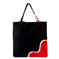 Simple Red And Black Desgin Grocery Tote Bag by Valentinaart