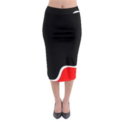 Simple Red And Black Desgin Midi Pencil Skirt by Valentinaart