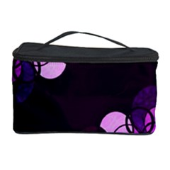 Purple Bubbles Cosmetic Storage Case by Valentinaart